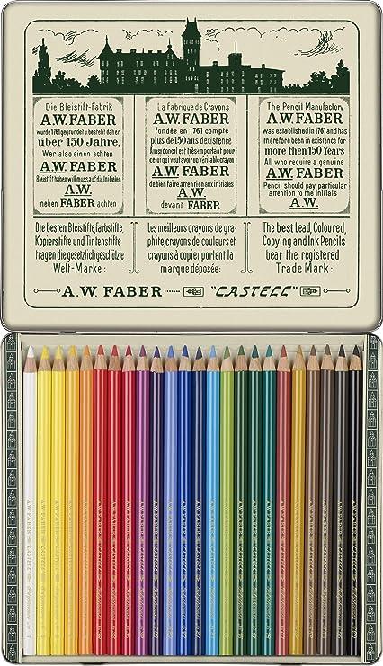 Faber-Castell 211002 - Estuche de metal con 24 lápices de ...