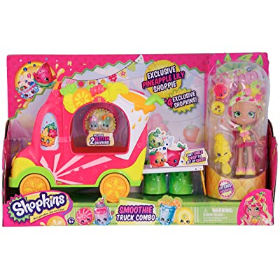 Shopkins Shoppies Smoothie Truck Combo Playset: Toys & Games