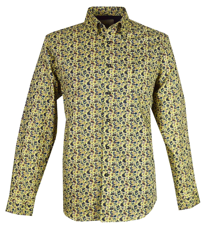 Gabicci - Camisa Casual - Cuello Tab - para Hombre Amarillo Verde ...