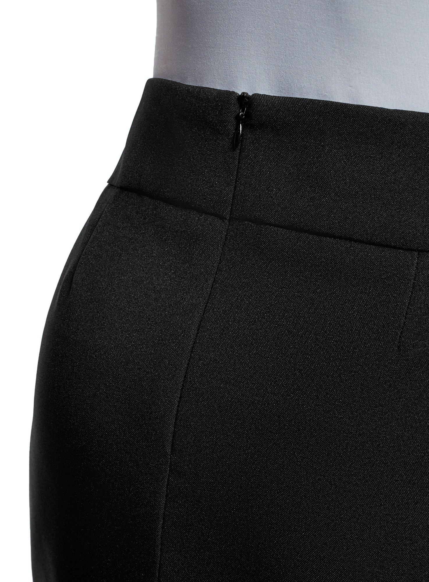 oodji Ultra Women's Basic Short Skirt, Black, 6 by oodji (Image #5)
