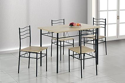 AVANTI TRENDSTORE - Gandria - Set con tavolo e 4 sedie in metallo e ...