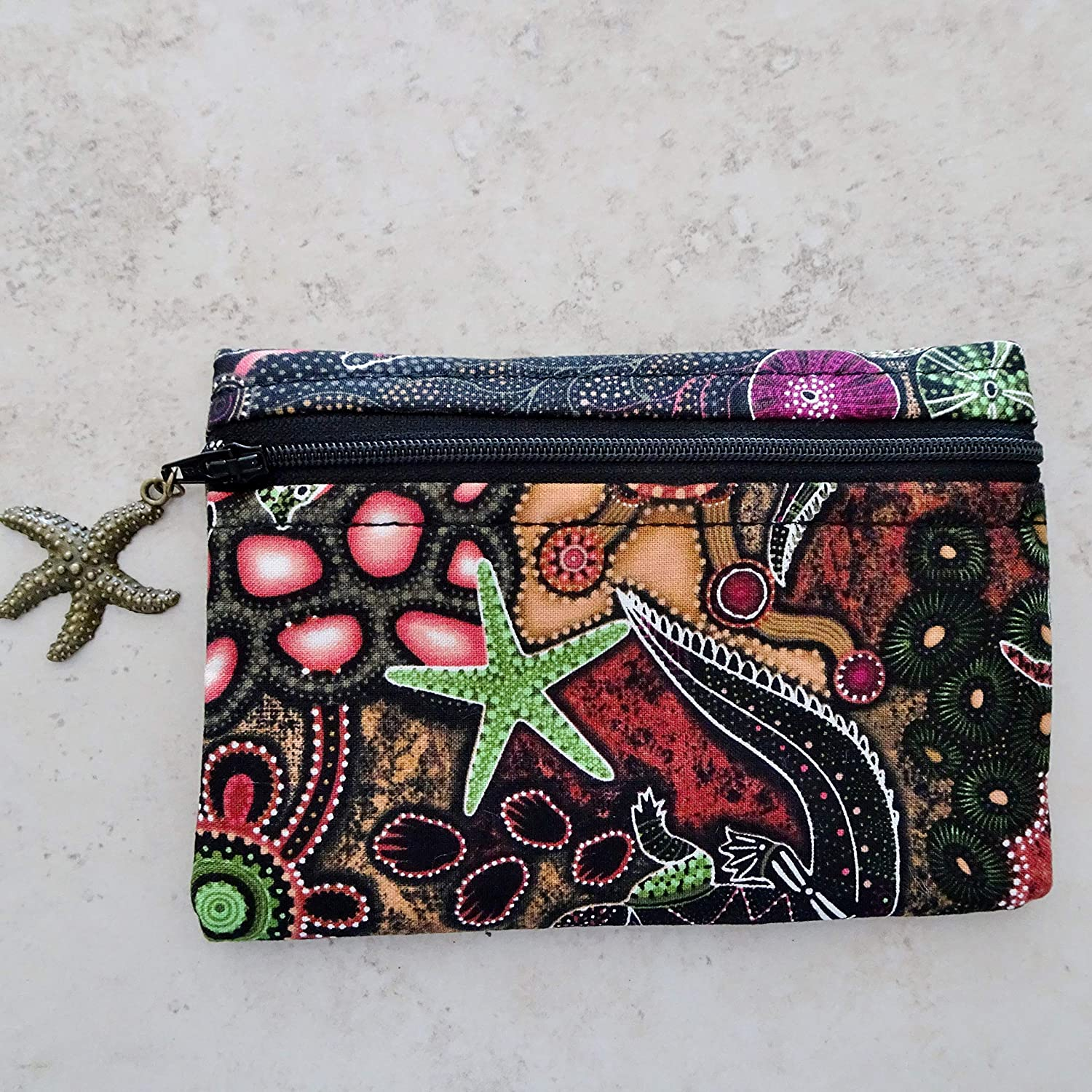Amazon.com: Zippered Coin Purse - Fabric Pouch Bag ...