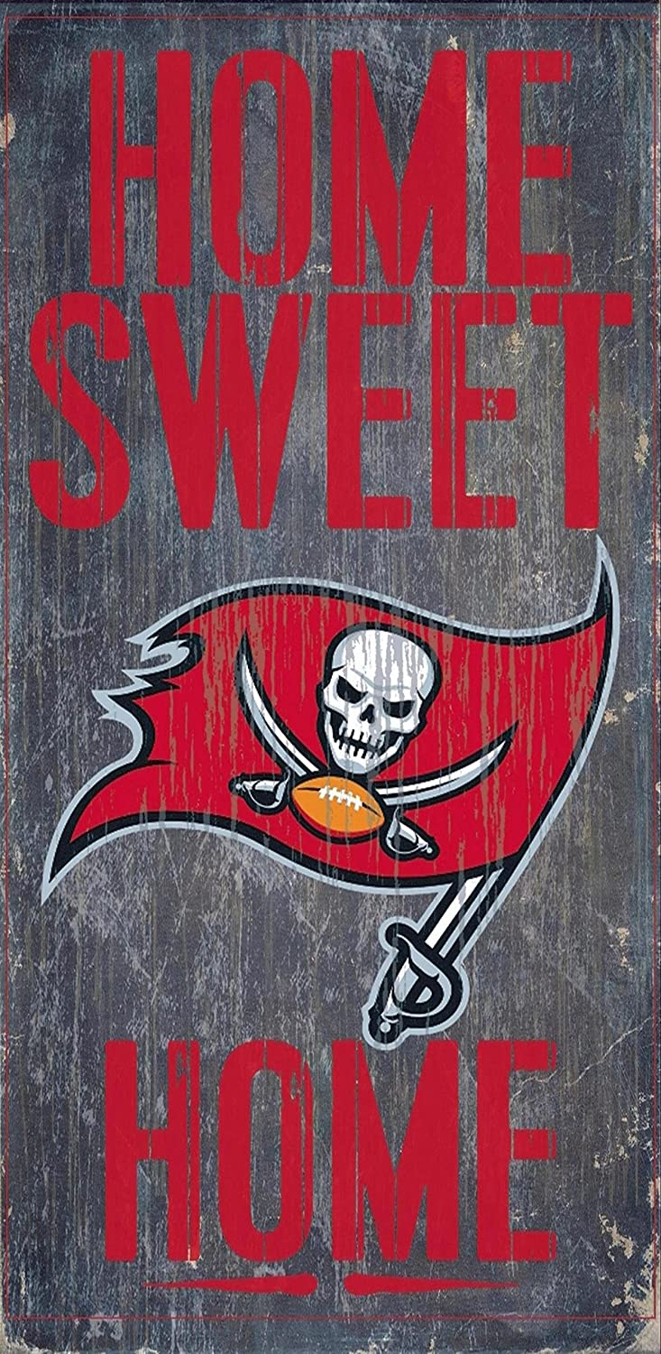 Fan Creations Home Sweet Home 6x12 Tampa Bay Buccaneers Wood Sign