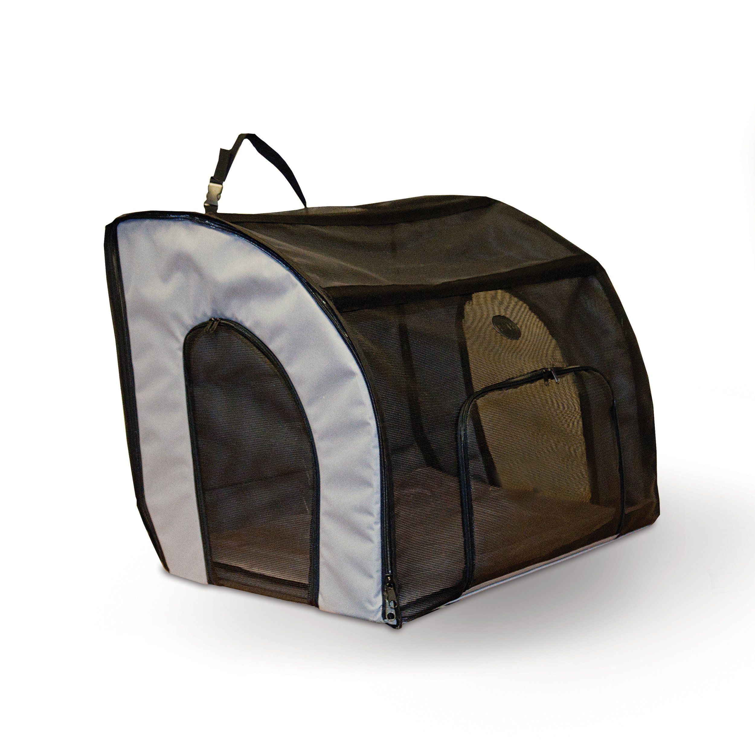 K&H Pet Products Travel Safety Pet Carrier Medium Gray 24'' x 19'' x 17''
