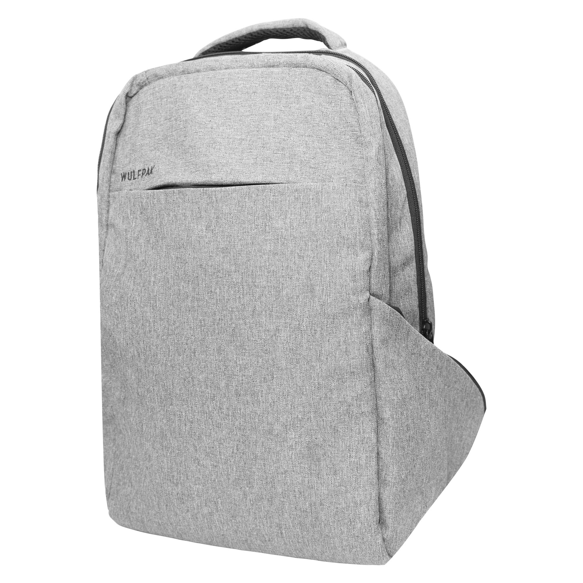 Laptop Backpack - Wulfpac professional anti-theft business rucksack - large, cool, slim, water-proof (resistant) bag - for school travel women girls men boys - fits 14, 15-.6, 16-.6, 17-.3 inch laptop