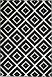 Summit 46 Black White Diamond Area Rug Modern Abstract Rug Many Sizes Available 2x3 2x7 4x6 5x8 8x10 (DOOR MAT 22 inch x 35 inch)