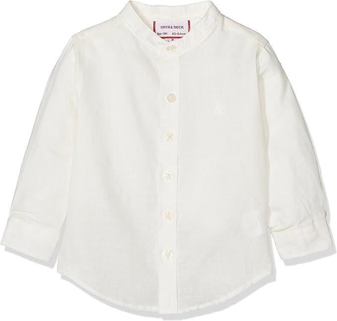 neck & neck 17V07018.10 Camisa BOTÓN, Blanco Roto, 9M Niño: Amazon.es: Ropa y accesorios