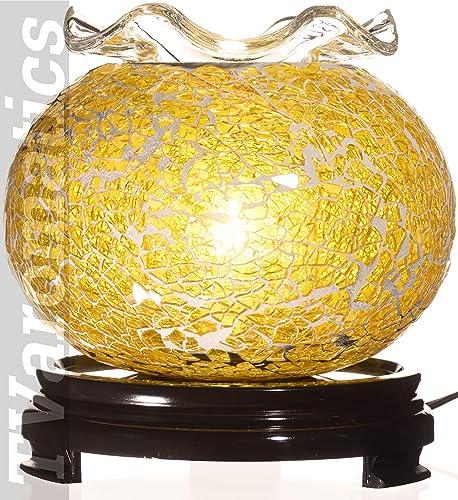 Yellow Glass Electric Aroma Lamp Oil and Wax Tart Warmer