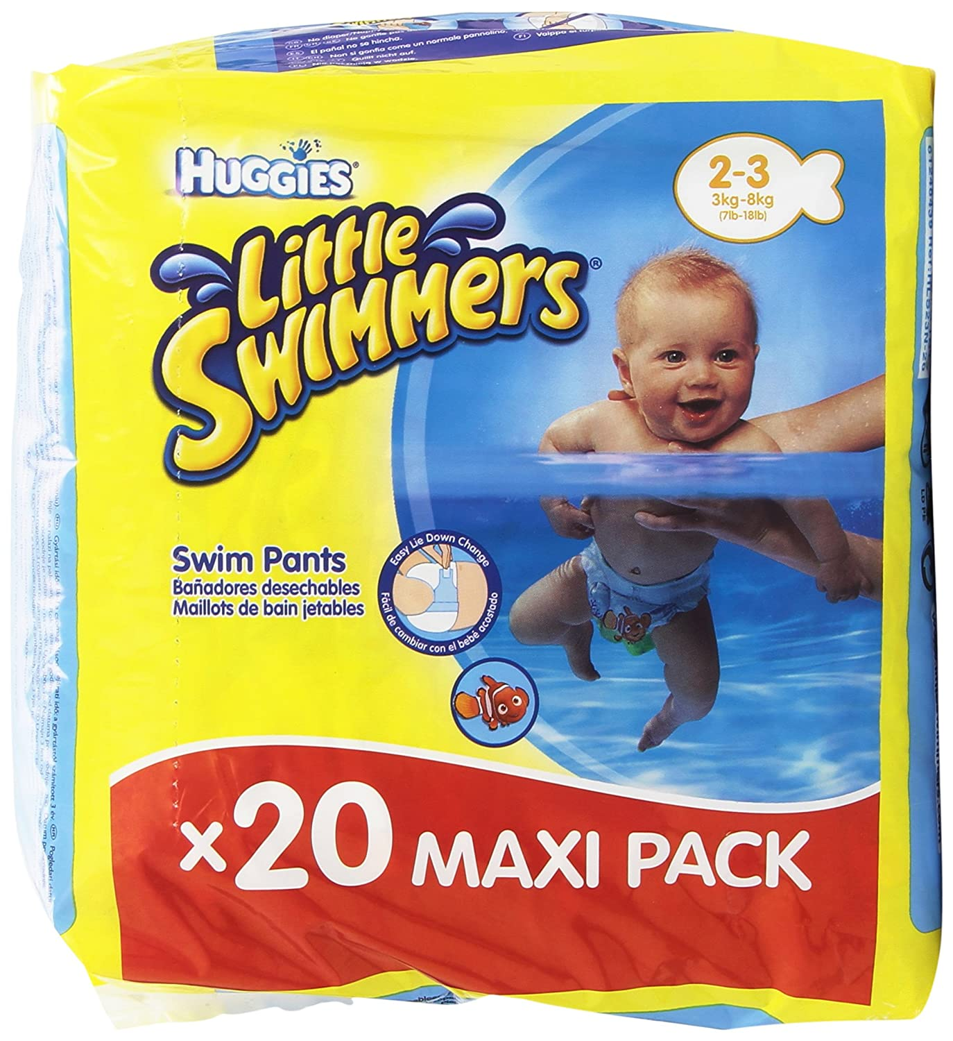 Huggies Little Swimmers- Bañadores Desechables, talla 2-3, 20 unidades: Amazon.es: Amazon Pantry