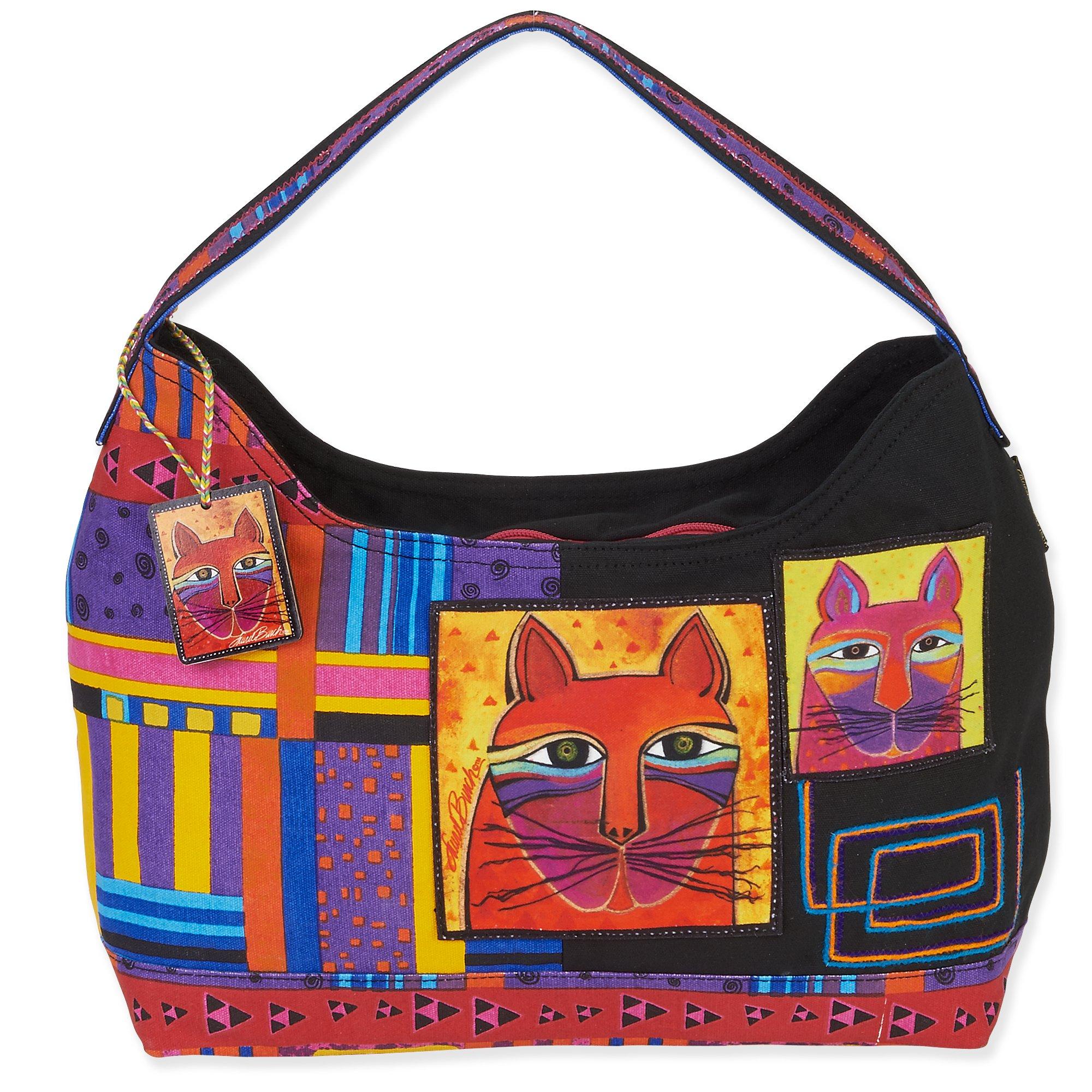 Laurel Burch Whiskered Cats Hobo (Multi)
