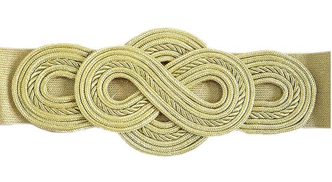 BRANDELIA Cinturón Elástico Mujer Fiesta Estilo Cordón de Seda para  Combinarlo Con Vestidos o Faldas Accesorio Elegante ac51a322f304