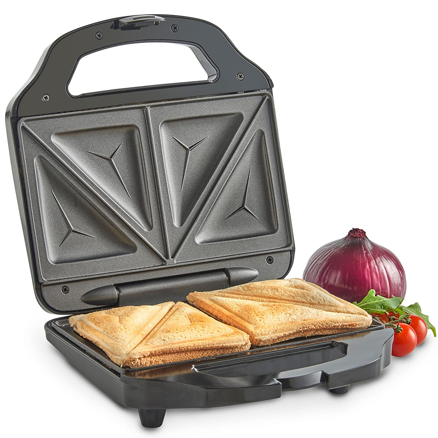 KITCHEN Electric Sandwich Waffle 2 Slice Automatic Griller Panini Toastie Press
