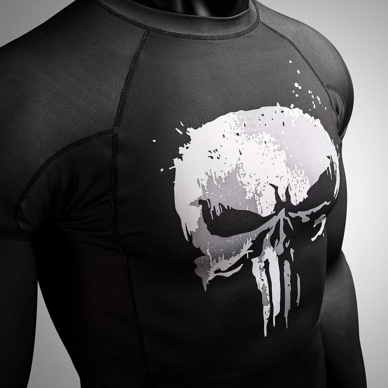 Hayabusa Rash Guard Marvel The Punisher Long Sleeve Rash Guard Men Women