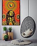 "ANJANIYA Bob Marley Beautiful Bohemian Room Dorm Decor Hippie Small Boho Rasta Tapestry Poster Size 40""x30"" Psychedelic Reggae Tapestries Wall Art Hanging Cotton Gypsy Posters (Bob Marley Laughing)"