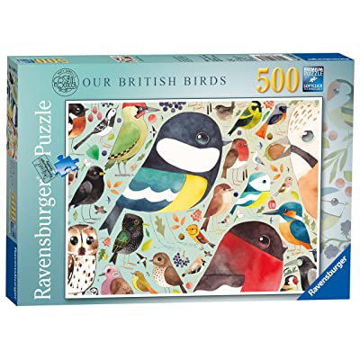 Ravensburger Matt Sewell's Our British Birds 500pc Jigsaw Puzzle: Toys & Games