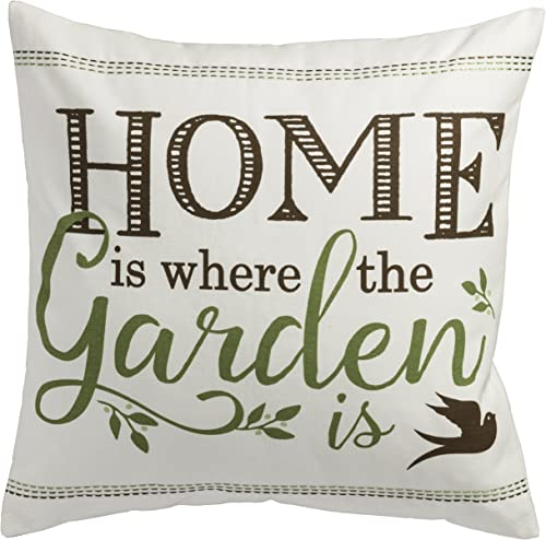 PRINZ Potting Shed 18×18 Home Where The Garden Pillow, 18 x 18