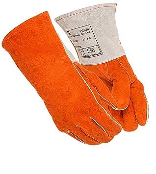 Weldas multiusos soldadura/barbacoa/resistente al calor guantes, pulgar recto, Kevlar cosido