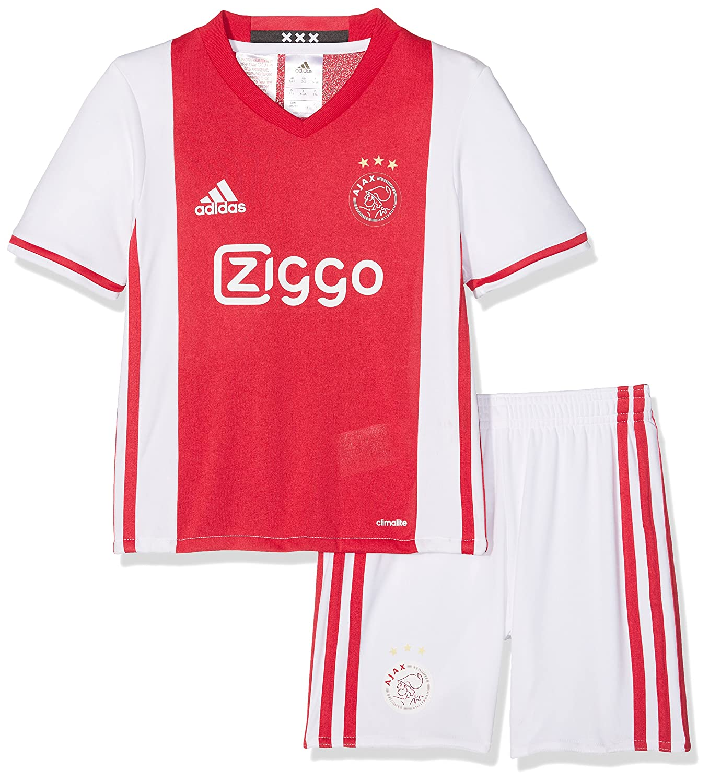 Adidas Ajax H Mini 1 Kit 2015/16, Maglietta Unisex Bambini, Bianco/Rosso (Blanco/Rojfue), 98 AI6928
