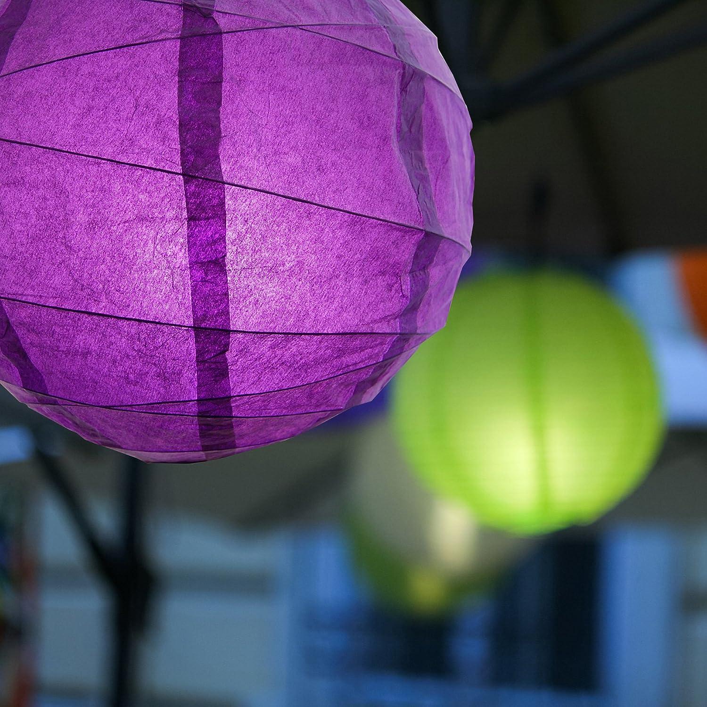 12 Purple 12 Lumabase 70805 5 Count Criss Cross Paper Lanterns