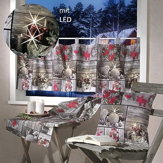 heimtexland Navidad Serie fotográfico Patchwork Visillo Camino de ...