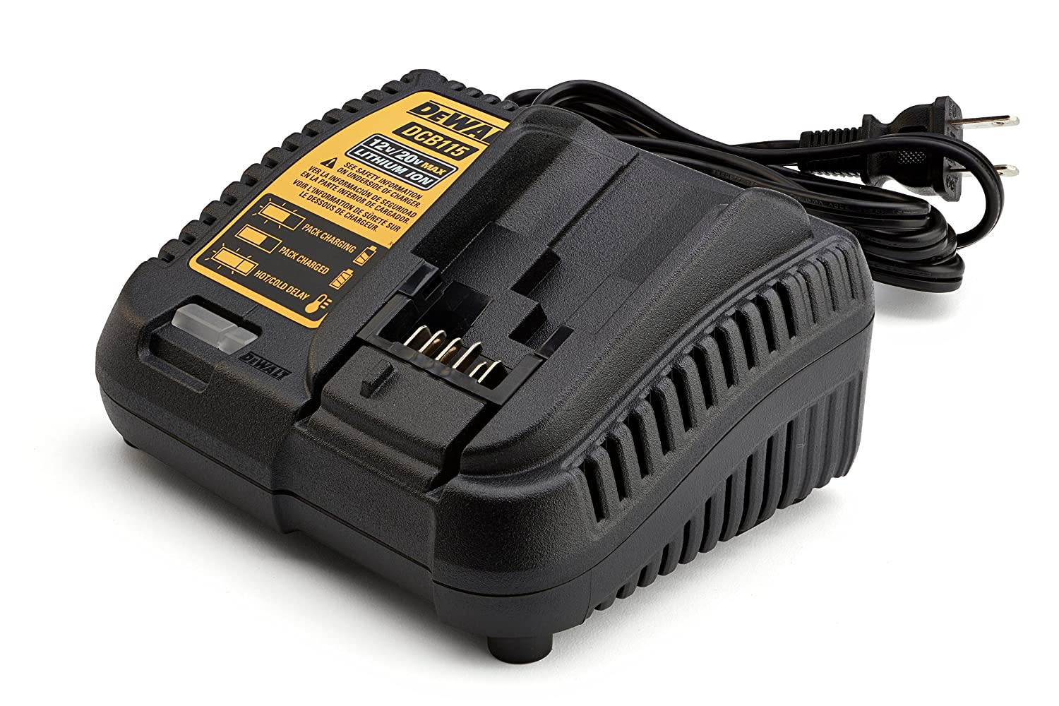 DEWALT DCB115 MAX Lithium Ion Battery Charger, 12V-20V