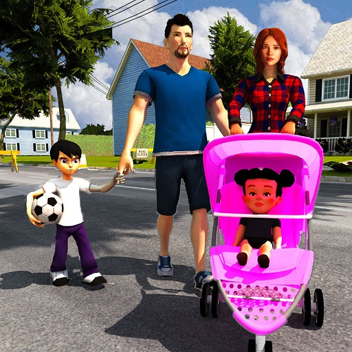 Virtual Mother Simulator: Babysitter Daycare &  Happy Family Games -