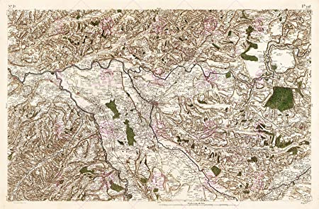 MAP CASSINI FRANCE 18TH CENTURY MONTAUBAN CAUSSADE REPLICA POSTER