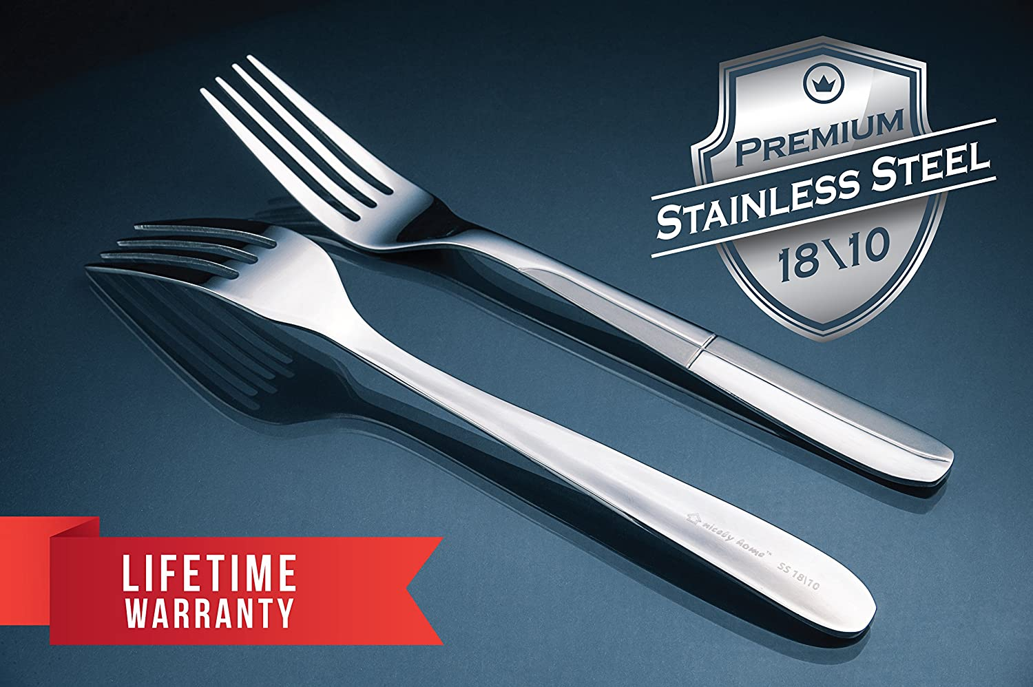 Amazon.com | Silverware Set 18/10 Stainless Steel - Forks Spoons ...