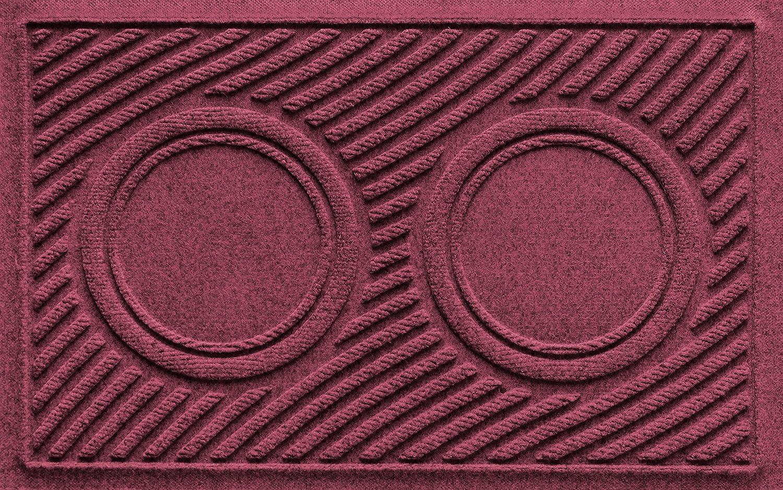 Bordeaux 18  x 27 AquaShield Dog Bowl Wave Pet Feeder Mat, gold, 18  x 27