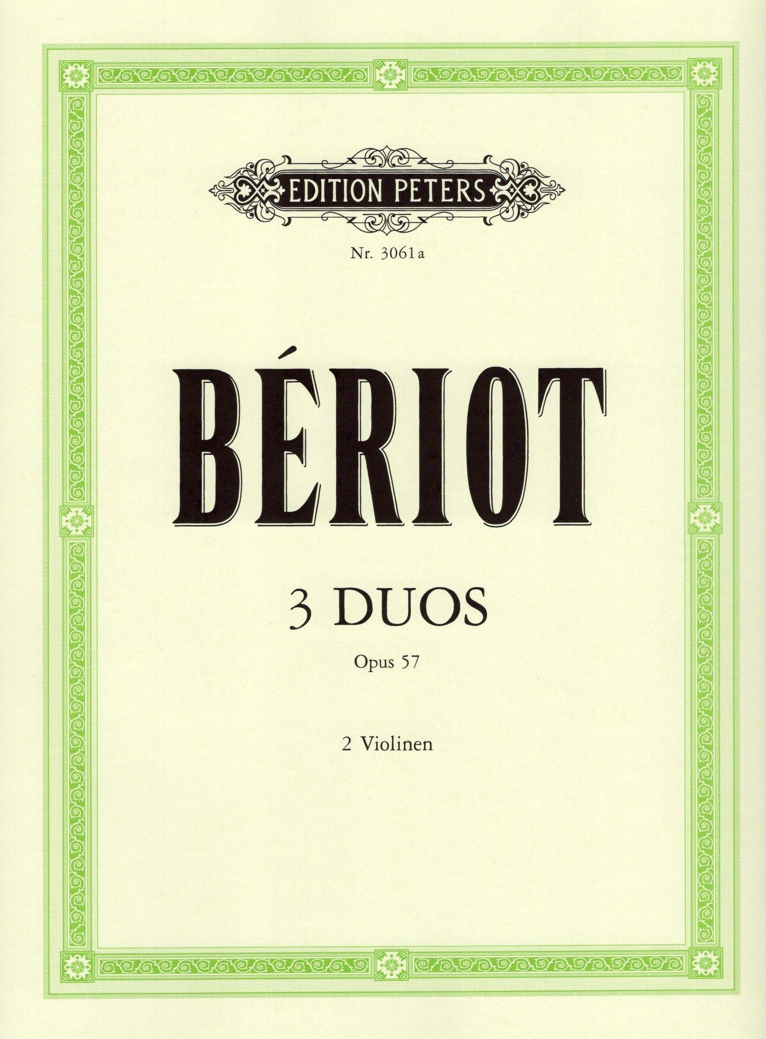 3 Duette Concertantes Op 57. Violine