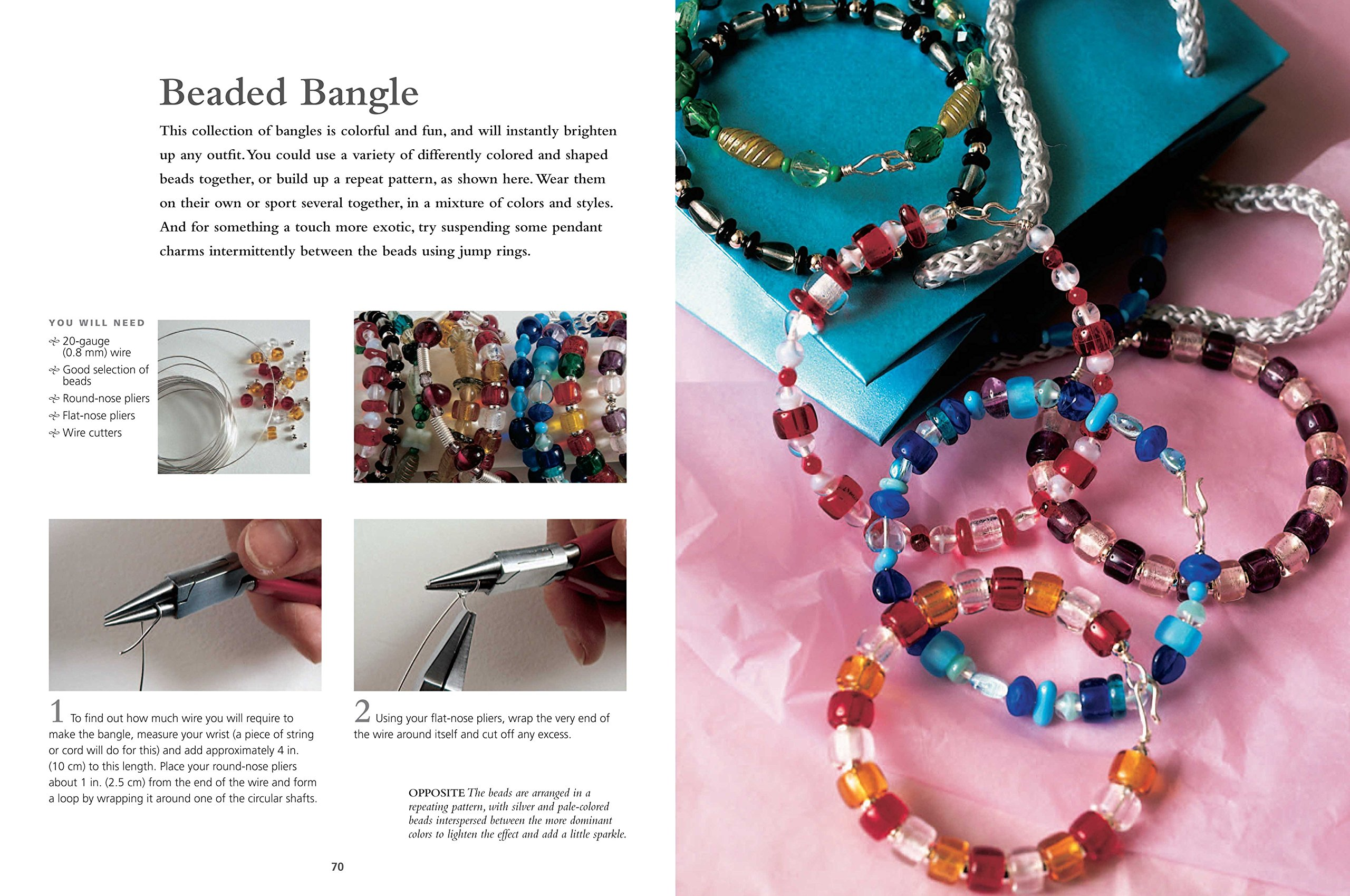 The Complete Guide to Wire & Beaded Jewelry: Over 50 beautiful projects and  variations using wire and beads: Linda Jones: 9781906525705: Amazon.com:  Books