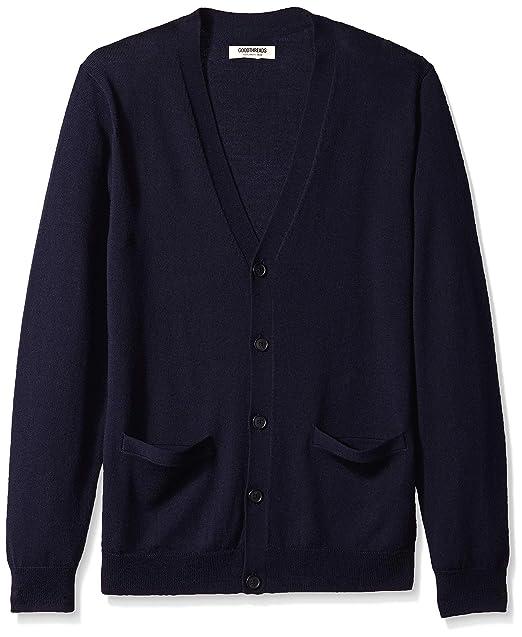 Marca Amazon - Goodthreads Merino Wool Cardigan Sweater, Sudadera para Hombre: Amazon.es: Ropa y accesorios