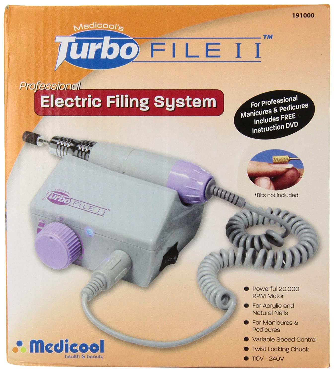 Amazon.com: Medicool\'s MED2191 Turbo File 2 Professional Electric ...