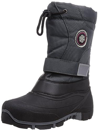 Trespass Dodo Youth Unisex Kinder Schnee Stiefel Wasser abweisend (37 EUR) (Schwarz) 96PeGX