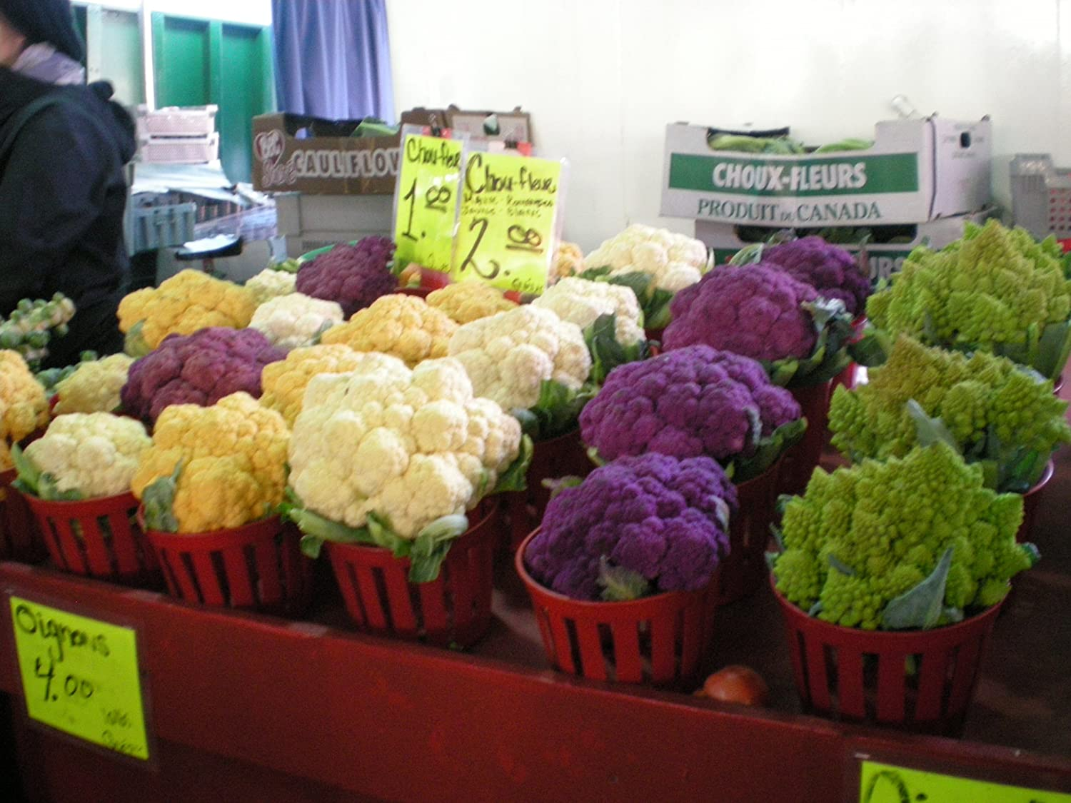 #1306 RAINBOW BLEND CAULIFLOWER MIXED COLORS 150 SEEDS
