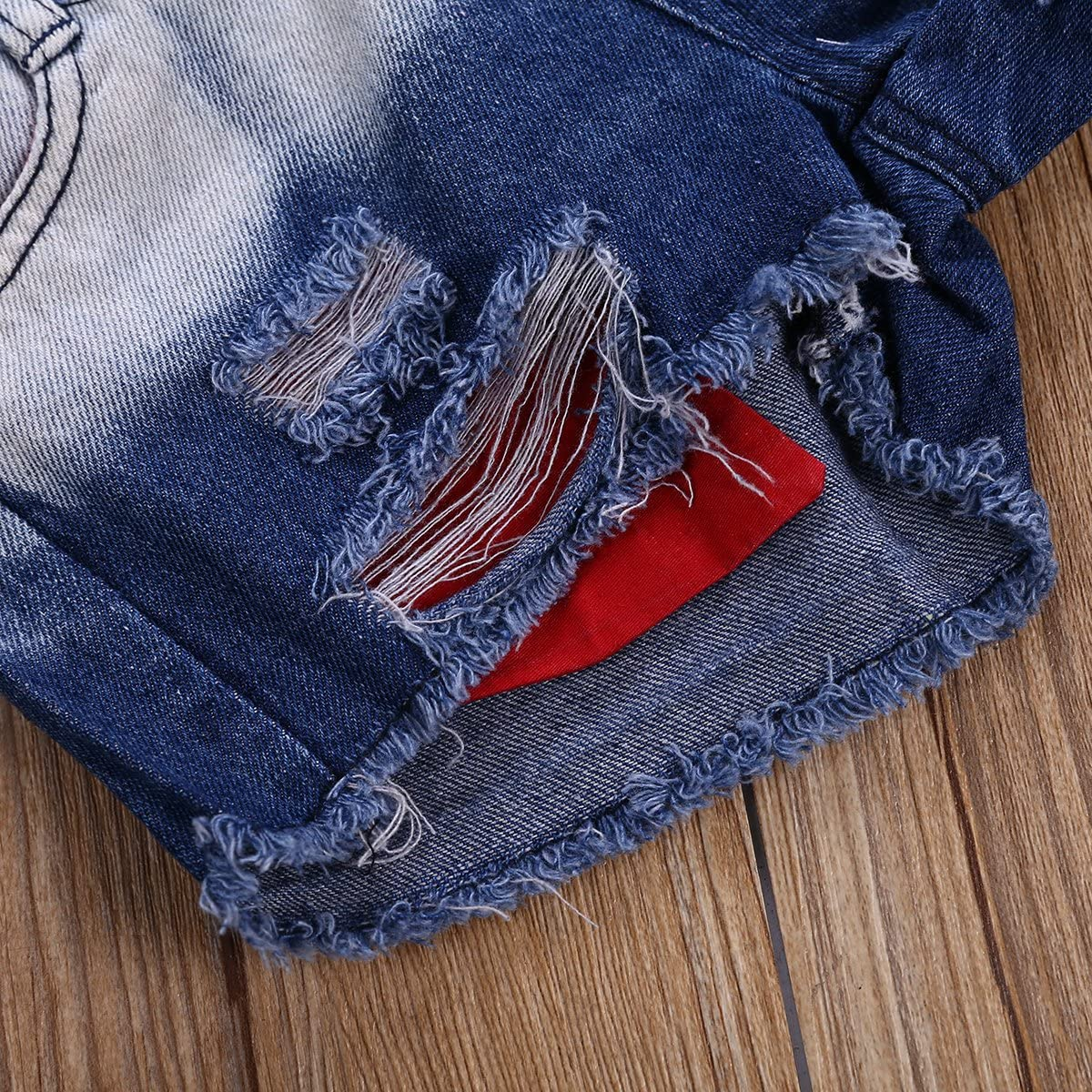 2Pcs//Set Toddler Baby Girls Denim Outfits Sleeveless Tassels Vest Tops+Ripped Jean Shorts Pant Summer Clothes Set