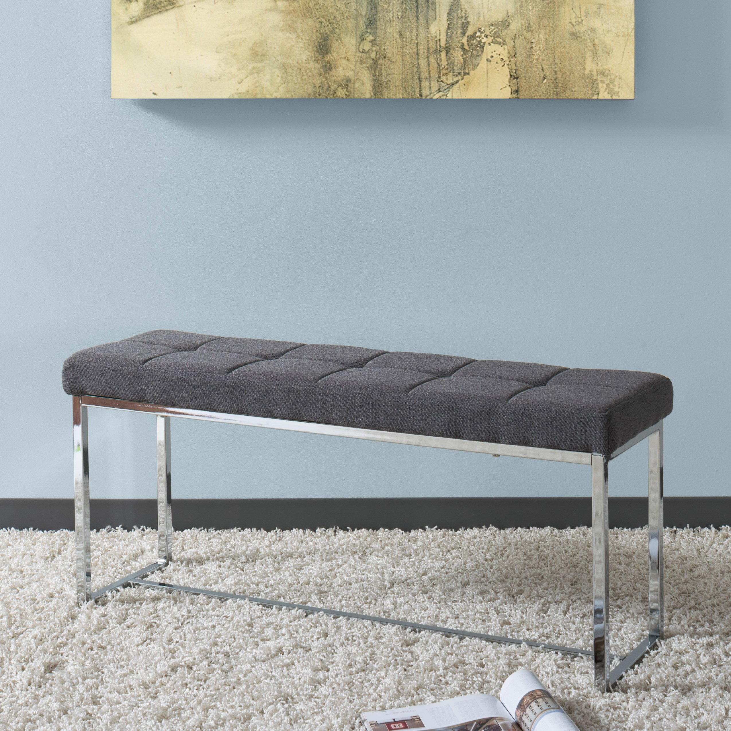 CorLiving LDF-161-O Huntington Bench Grey by CorLiving (Image #3)