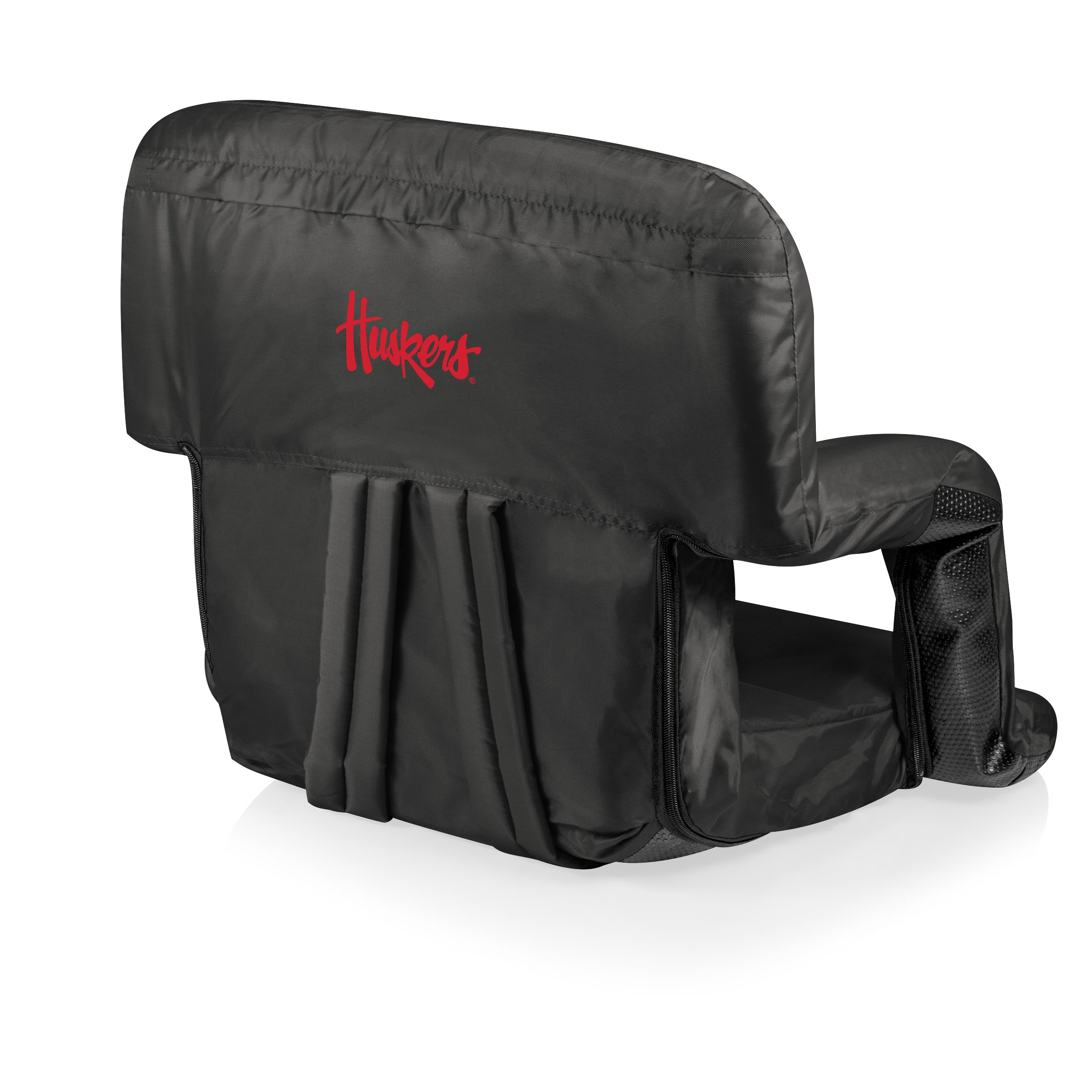 NCAA Nebraska Cornhuskers Ventura Portable Reclining Seat, Black by PICNIC TIME