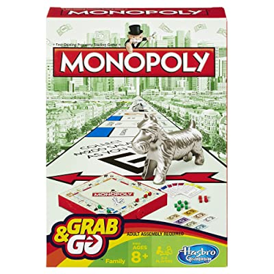 Monopoly Grab and Go Game (Travel Size): Toys & Games