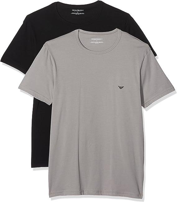 Emporio Armani Camiseta Interior (Pack de 2) para Hombre: Amazon ...