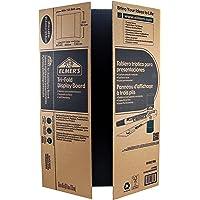 Elmer's Corrugated Tri-Fold Display Board, 36 x 48-Inch, 1-Ply, Black Inside/Kraft Outside, 6-Pack (J730305)