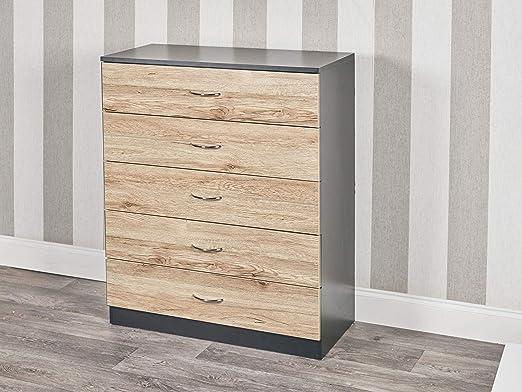 URBNLIVING - Cómoda de madera para dormitorio con 4 o 5 cajones ...