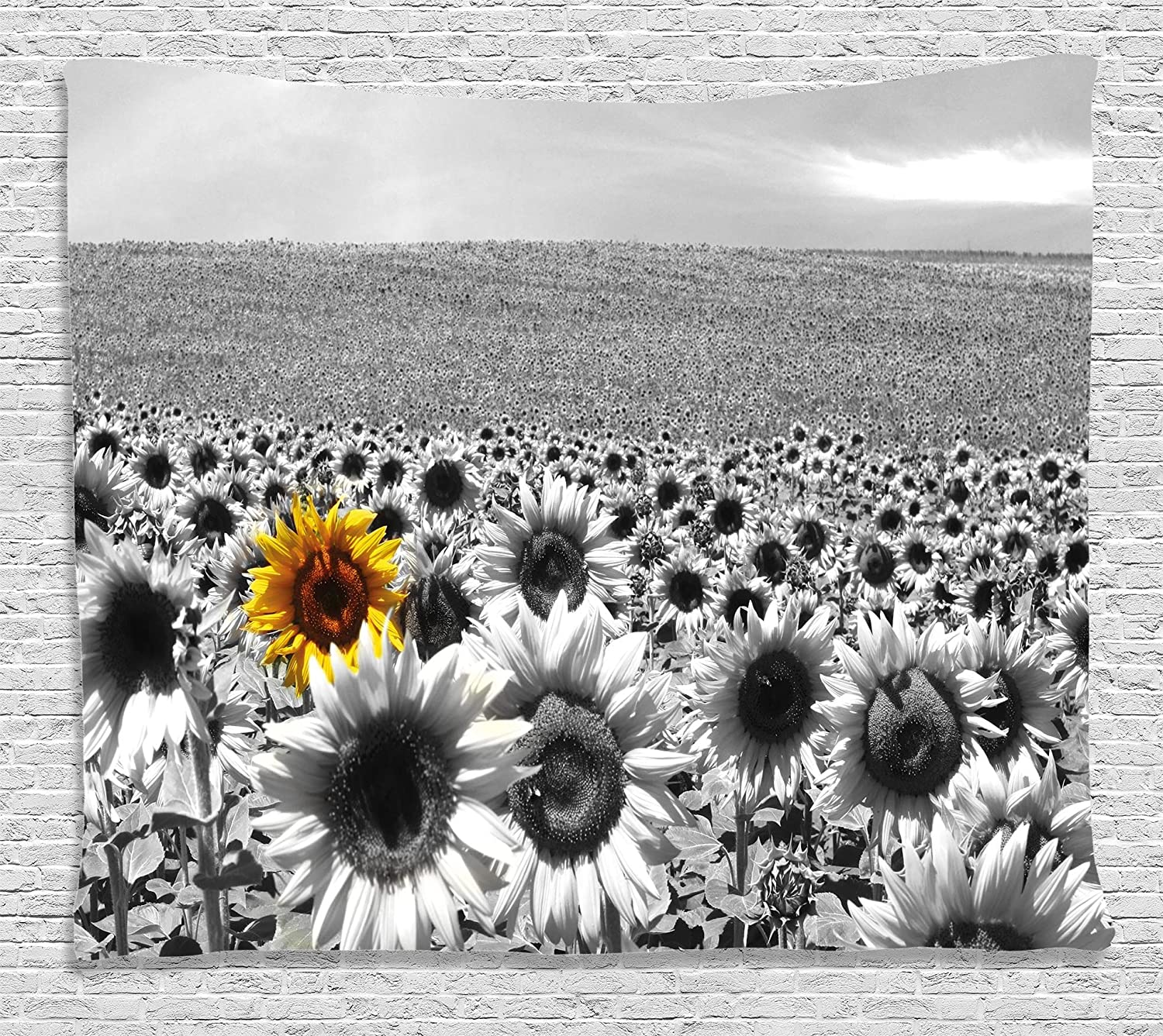 Amazon Modern Decor Tapestry By Ambesonne Sunflower Field