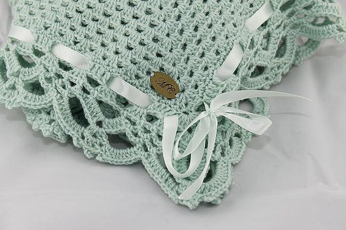 Copertina A Uncinetto Con Gattino 100 Lana Baby Amazonit Handmade