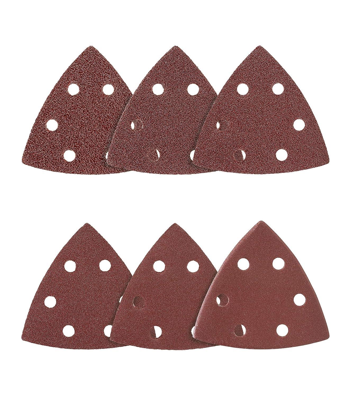 grano 100 para lijadora delta de 6 agujeros 50 pieza tri/ángulos de lija 93 x 93 x 93 mm