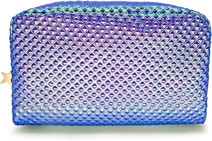 Frebeauty Holographic Cosmetic Bag Makeup Bag Toiletry