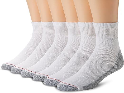 Hanes Calcetines 6 Pares Cojín De Tobillo Talla 6-12 gris y blanco confort costura del dedo del pie