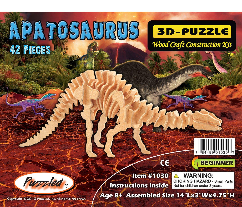 【テレビで話題】 3 One - D木製パズル B004QDPM3W – - 小さなApatosaurus – Affordableギフトfor your Little One。Item # dchi-wpz-j005 B004QDPM3W, シートカバーStudioフルファンゴ:b43fd72b --- quiltersinfo.yarnslave.com