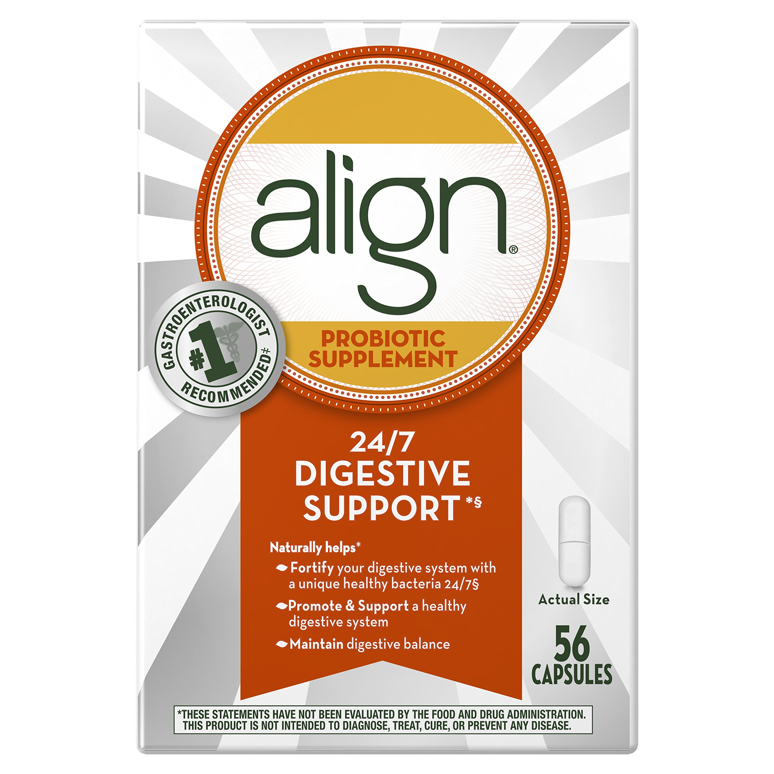 Amazon Align Probiotic Supplement 56 count Packaging May Vary