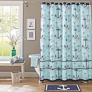 Better Homes & Gardens Nautical Fabric Shower Curtain